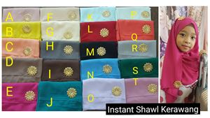 YES *Clearance below cost* Instant Shawl Kerawang: Warna kod O shj