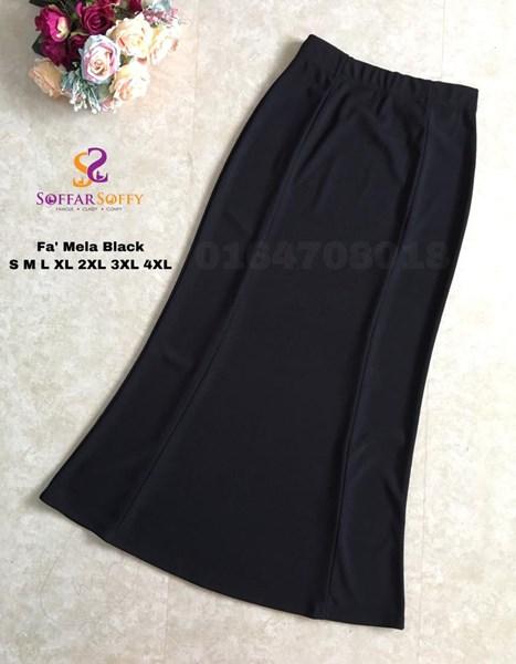 FA'MELA BLACK  ( SAIZ S M L XL 2XL 3XL 4XL )