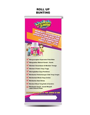 Design B, Roll-up Bunting Stand, Khalish Brain A+, 1 pcs