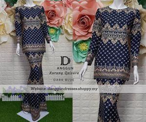 Kurung Batik Qaisara Dark Blue