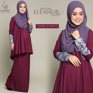 Peplum Eleanor Brocade : Dark Purple