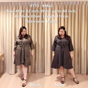 9773 *Ready Stock *Bust 46 to 52 inch/ 117-132cm