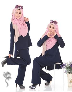 SHILA SUIT -  DARK BLUE