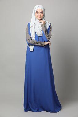 JUBAH KHADEEJA-ROYAL BLUE