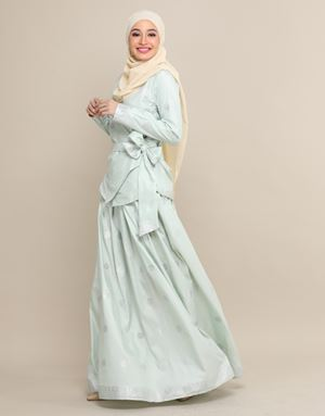 CHEMPAKA SONGKET IN DUSTY GREEN