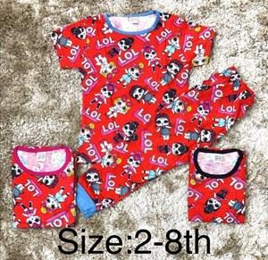 Pyjamas LOL MERAH - 2-8 YR