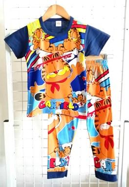 Pyjamas Short Sleeve GARFIELD RELAX Blue Black (Kids 2 -8)