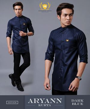 KURTA ARYANN 1ST BATCH ( DARK BLUE )