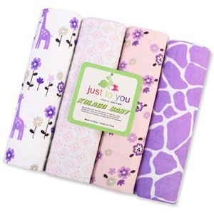 Purple Giraffe Blanket 4 in 1 Pack