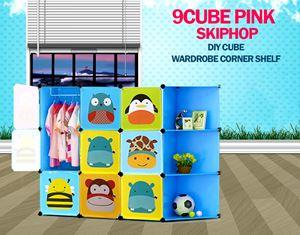 Skiphop Blue 9C DIY Cube w Corner Rack (SK9CB)