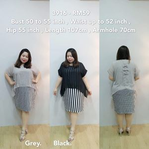 3916 Ready Stock *Bust 50 to 55 inch/ 127-139cm