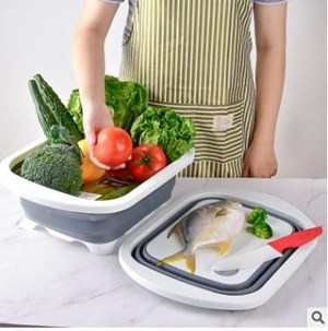 Portable Kitchen Collapsible Dish Tub | Cutting Board | Washing Basin