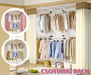 CLOTHING RACK WITH CURTAIN N00635