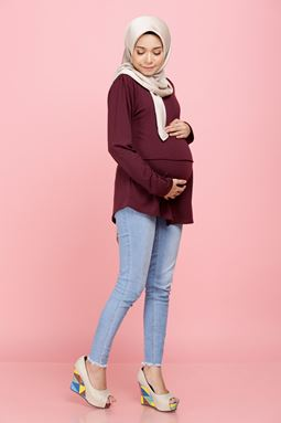 Iriss Blouse - Burgundy