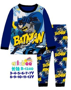 @  AILUBEE  BATMAN   SLEEPWEAR ( B-1240 ) SZ  3Y - 12Y