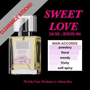 SWEET LOVE 50ml EDP PERFUMES CLEARANCE STOCKS