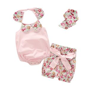 CUTE ROSES BABY GIRLS ROMPERS