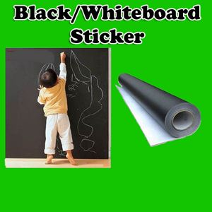 BLACK/WHITEBOARD STICKER 60*200CM