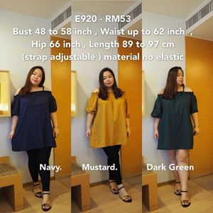 E920 Ready Stock * Bust 48 to 58inch/121-147cm *