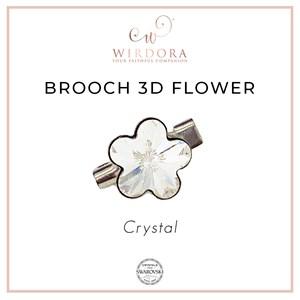 Brooch Fancy Flower Crystal