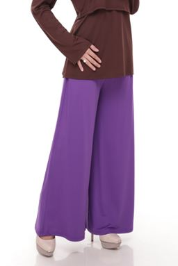 Palazzo (Royal Purple) Maternity Friendly with Adjustable Waistband