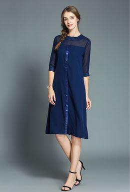 Retro Mid-length Chiffon Dress