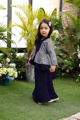 BAJU KURUNG PEPLUM FISH TAIL (DARK BLUE)