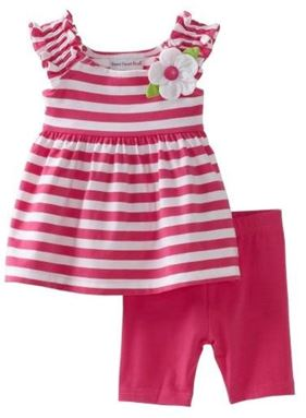 ZARA KIDS : RED FLOWER STRIPE