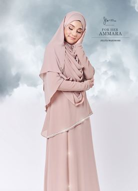 Jubah Ammara For Her (Nude)