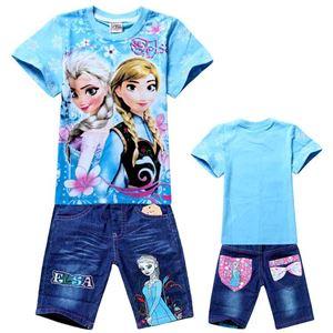 Frozen Blue Set - Tee+Pant Jeans