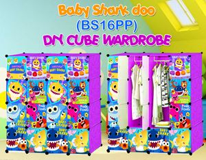 Baby Shark Doo PURPLE 16C DIY WARDROBE (BS16PP)