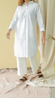Rosalea Wide Legged Pants (Off White)