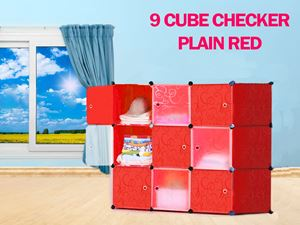 Plain Checker Red 9C DIY Cube (PR9)