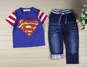 @  WS-201521-017  SUPERMAN BLUE  2pcs SET (sz80-130)
