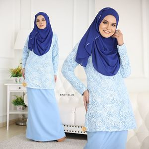 BLOW OUT CLEARANCE ~   RAISHAH LACE - BABY BLUE