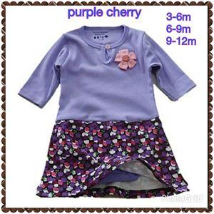 Romper Dress - Purple Cherry R010