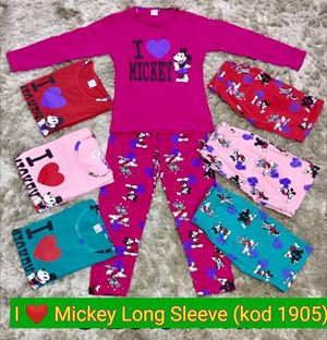 Pyjamas I LOVE Mickey - Long Sleeve,  Kod 1905 (Big Size) 9y-14y