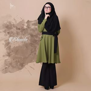 KHAWLA CASUAL BLOUSE ( OLIVE GREEN )