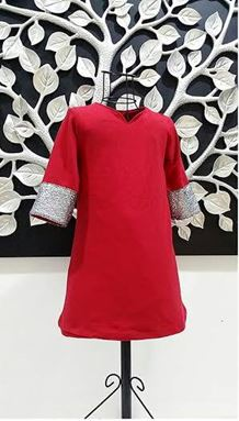 Dress Jubah Baby - Red S0045