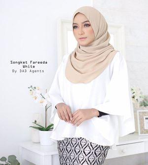Songket Fareeda (Top Only) White