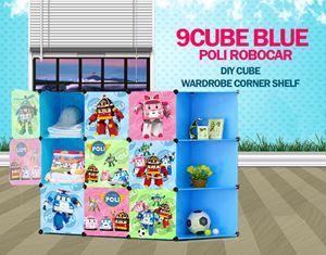 RoboCar Poli Blue 9C DIY Cube w Corner Rack (PL9BR)