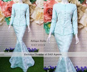 Kebaya Brocade Stella Mint Green