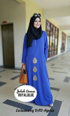 JUBAH ANEESA Royal Blue