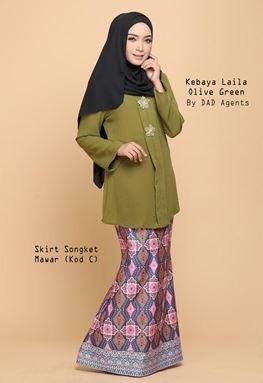 Kebaya Laila (Top) Olive Green