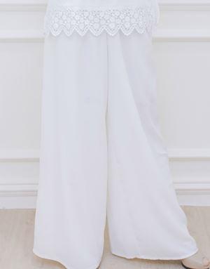 ZARA LOOSE PANTS IN WHITE