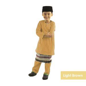 BAJU MELAYU AULADI (LIGHT BROWN) -BM12-