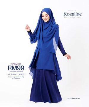 KURUNG ROSALINE IN ROYAL BLUE