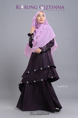 KURUNG QIZTINNA ( PURPLE )