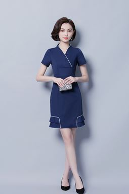Office Wear Short-Sleeved Dress