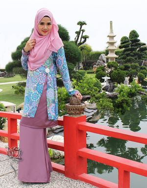 KURUNG ROSALINDA - BLUE PURPLE